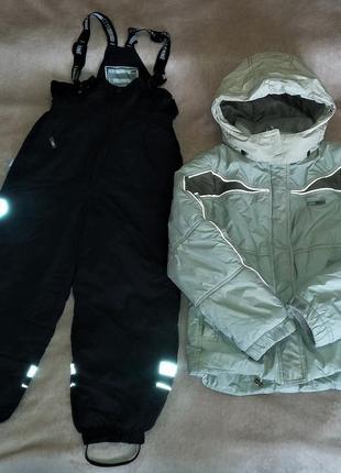 Зимний термо комбинезон, костюм lenne, р. 128. ленне комплект куртка и полукомбинезон.