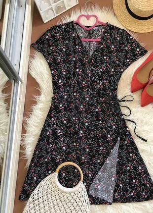 Платье h&m на запах, размер 34, xs