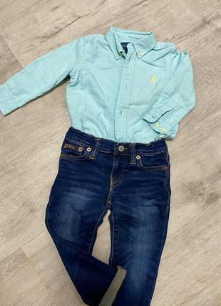 Костюм комплект рубашка джинсы