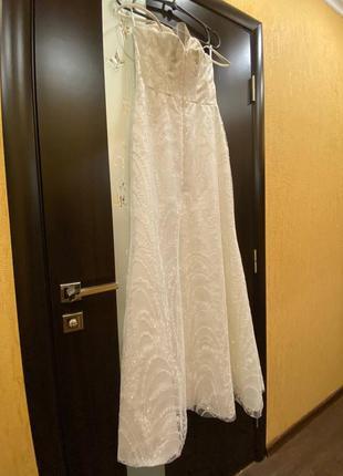 Свадебное платья юбка со шлейфом