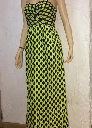 Donna karan dkny потрясающее платье шёлк и хлопок
