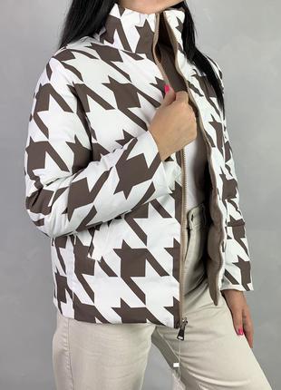 Двусторонняя куртка пуфер демисезон еврозима