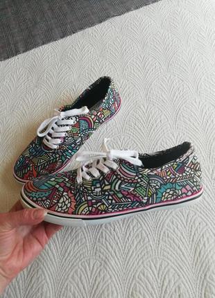 Мокасины туфли текстиль мокасы