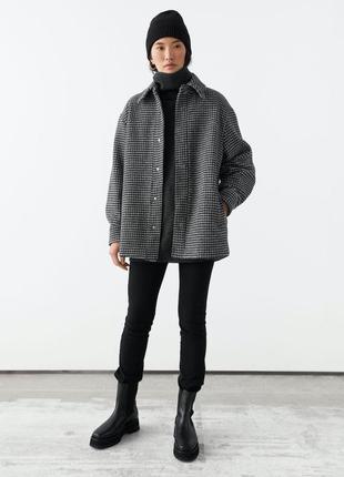 Пальто & other stories oversized shirt jacket s