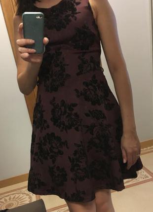 Платье new look бордового цвета 36/42/s