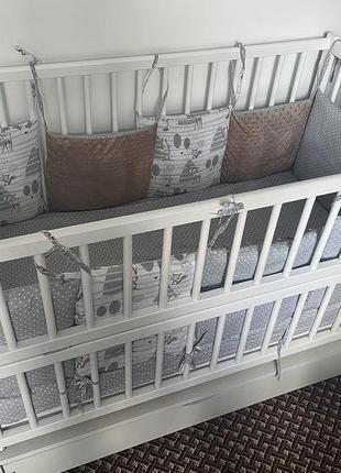 Дитяче ліжко з шухлядою від 0 до 3 років