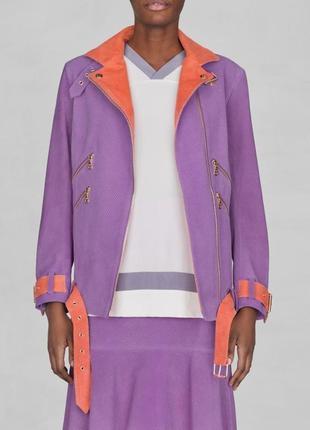 Новая оригинальная куртка-косуха от шведского бренда &other stories светло-сиреневого цвета
