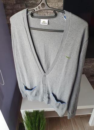 Lacoste оригинал кардиган мужской ( кофта* свитер