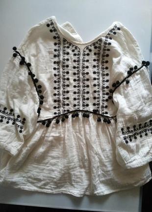 Вышитая блузка zara