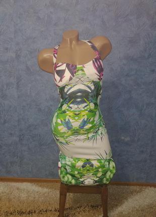 Шикарное платье миди по фигуре с красивой спинкой