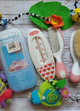 Набор для младенца аспиратор nosefrida расчёски chicco безопасные ножницы термометр градусник