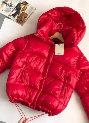 Новая обалденная теплая куртка oversize bik bok (дутик, пуффер)
