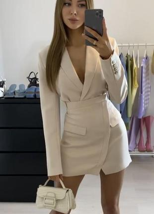 Платье пиджак zara 2021, блейзер