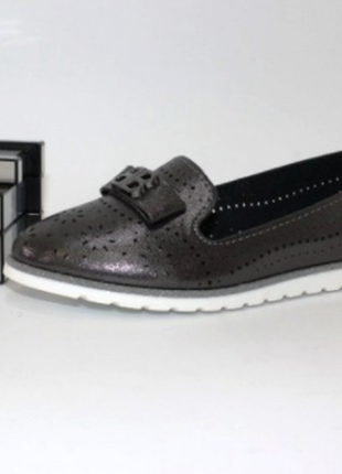 Туфли для девочки с перфорацией 20см