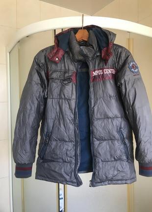 Фирменная зимняя куртка на пуху пуховик geox оригинал!