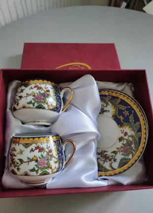 Чашки кофейные тончайший фарфор
