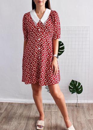 Женское платье с воротничком