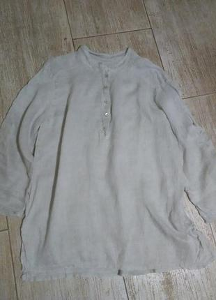 Рубашка блузка блуза лен льняная оверсайз прямая свободная легкая воздушная прозрачная  пляжная пляж белая  рубаха сорочка