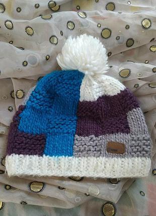Прикольная тёплая шапочка