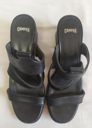 """Женские  кожаные  босоножки """"camper"""" размер 38 (24 см)"""