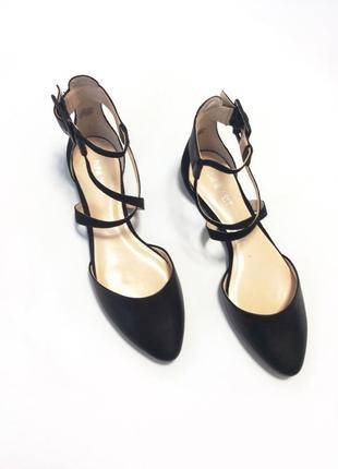 Кожаные мюли туфли