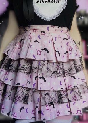 Милая готическая юбка на хеллоуин большого размера