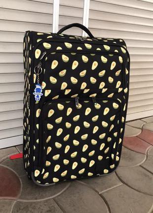 Средний чемодан bagland авокадо для путешествий
