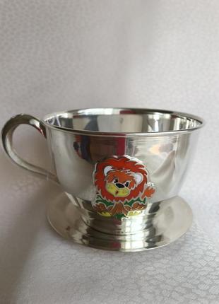 Серебряная чашечка с блюдцем серебро 925 чашка чайный комплект набор