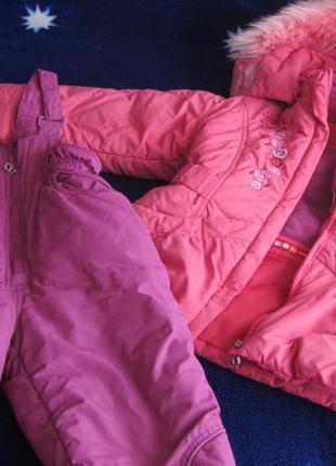 Зимний костюм на девочку комбинезон курточка