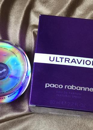 Ultraviolet paco rabanne,остаток 40 мл! оригинал!!