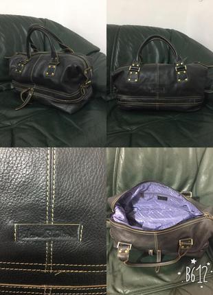 Фирменная, кожаная, большая, базовая, дорожная сумка, 100% кожа