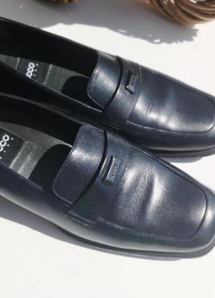 Черные кожаные туфли 39р. ecco., кроссовки экко