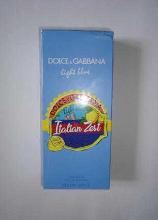 Духи оригинал dolce & gabbana italian zest (femme) 100 мл сша