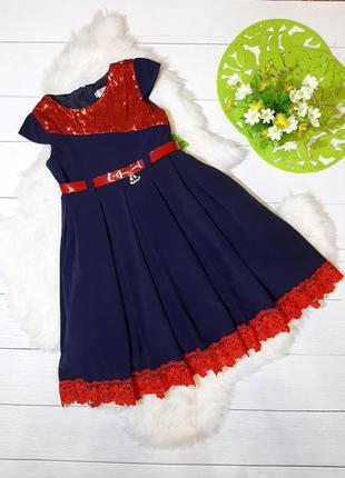 Шикарное стильное  платье на 6/7л.122см