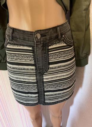 H&m • юбка джинсовая