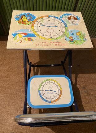 Детский стол парта со стульчиком bambi.