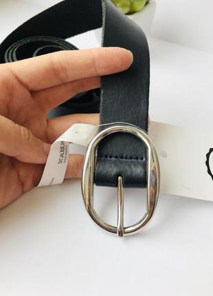 💣 кожаный ремень с серебристой пряжкой, пояс из натуральной кожи сплит c&a