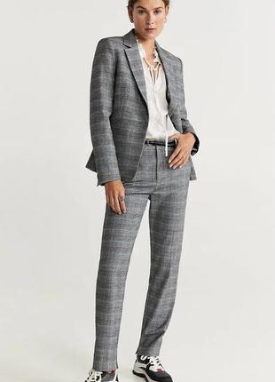 Костюм, брючный костюм, костюм в клетку, пиджак, брюки, mango, костюм mango.