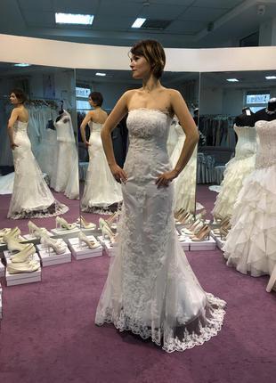 Свадебные платья силуэт рыбка