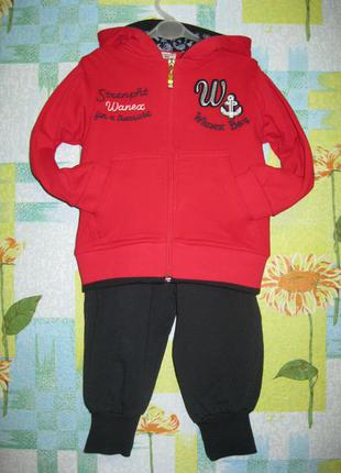 """Спортивный костюм """"wanex"""" размер 2-3 года. рост 92 см."""