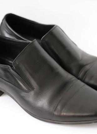 Мужские кожанные туфли черные fortuno line