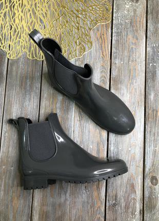 Anna field резиновые челси - идеальный вариант на дождливую погоду чоботы гумачки