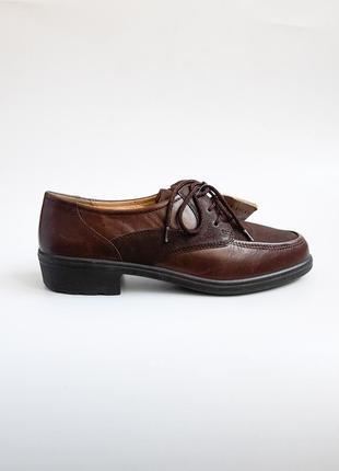 Коричневые женские туфли дерби ecco