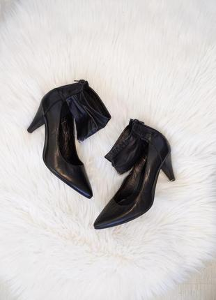 🔥🔥🔥 туфли черные с шлейкой minelli италия