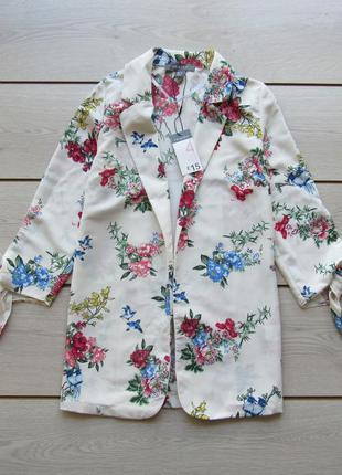 Цветочная легкая накидка пиджак от primark