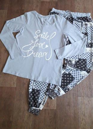 Трикотажная пижама, домашний костюм штаны кофта трикотаж esmara германия