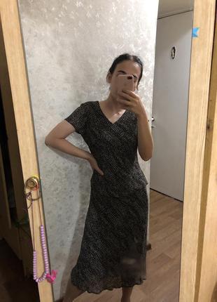 Шикарный костюм юбка блуза винтаж