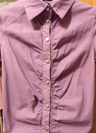 Женская сиреневая блуза