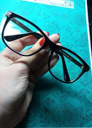 Очки для имиджа, с прозрачными стеклами