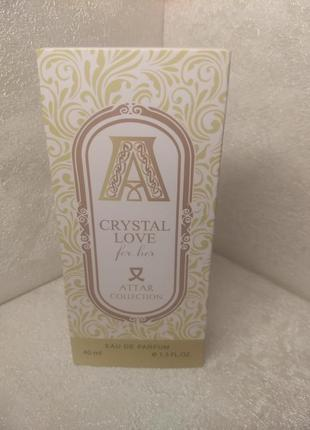 Crystal love парфюмированная вода, туалетная вода, духи,минипарфюм